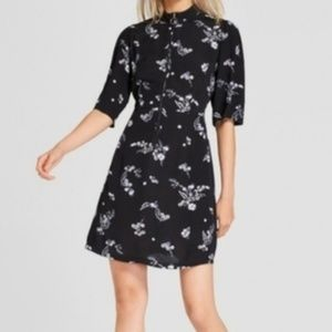 Who What Wear Floral Swing Mini Dress